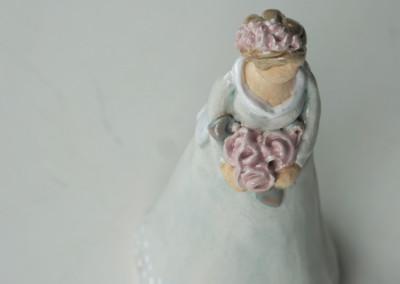 ShopA36 / 1 an Lager - 69.00 zauberhafte Blumenfrau handgetont