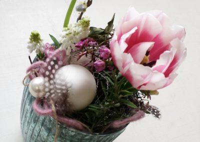 auf Bestellung Blumenschnitt im Windlicht nach Thema