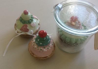 ShopB21c1 / 2 Cupcake handmade getont von Zierstückli - an Lager ab 29.00 CHF