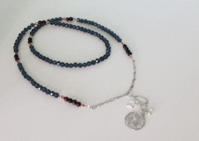 Wunderschöne Halskette blau-braun